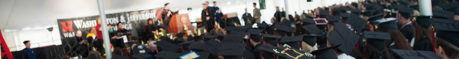 Graduates await receiving their diplomas during the Commencement Ceremony.
